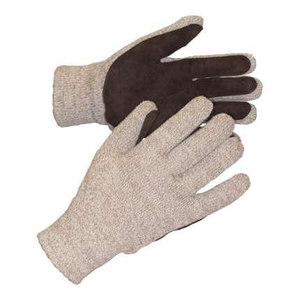 Перчатки П1780-2 (Январь Ультра) полушерст.с наклад.из спилка